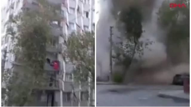 Jeziva snimka koja prikazuje jačinu potresa: Cijela zgrada pala kao da je od kartona!