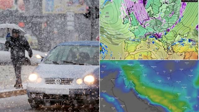 'Ovo je povijesna hladna fronta, u Hrvatskoj i do 30 cm snijega'