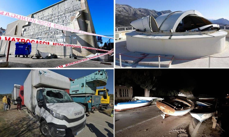 Vjetar poharao Hrvatsku: Lete fasade, stabla, kaos u prometu