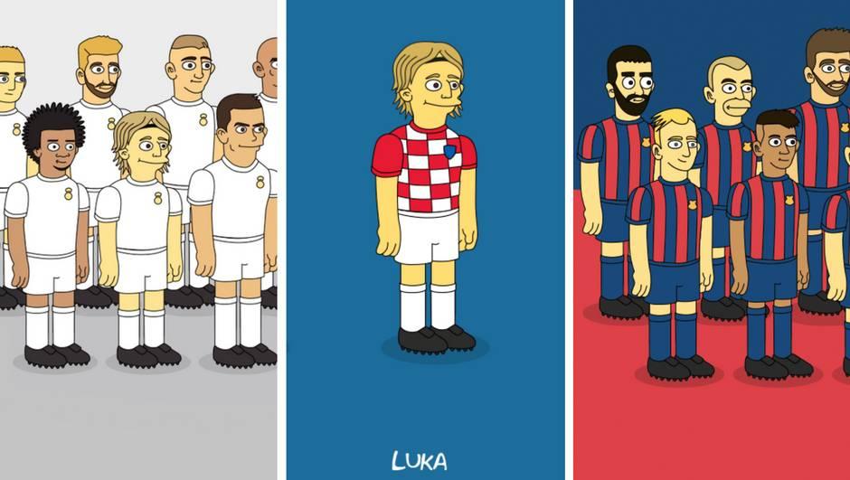 Evo kako bi Luka Modrić i Ivan Rakitić izgledali u Simpsonima