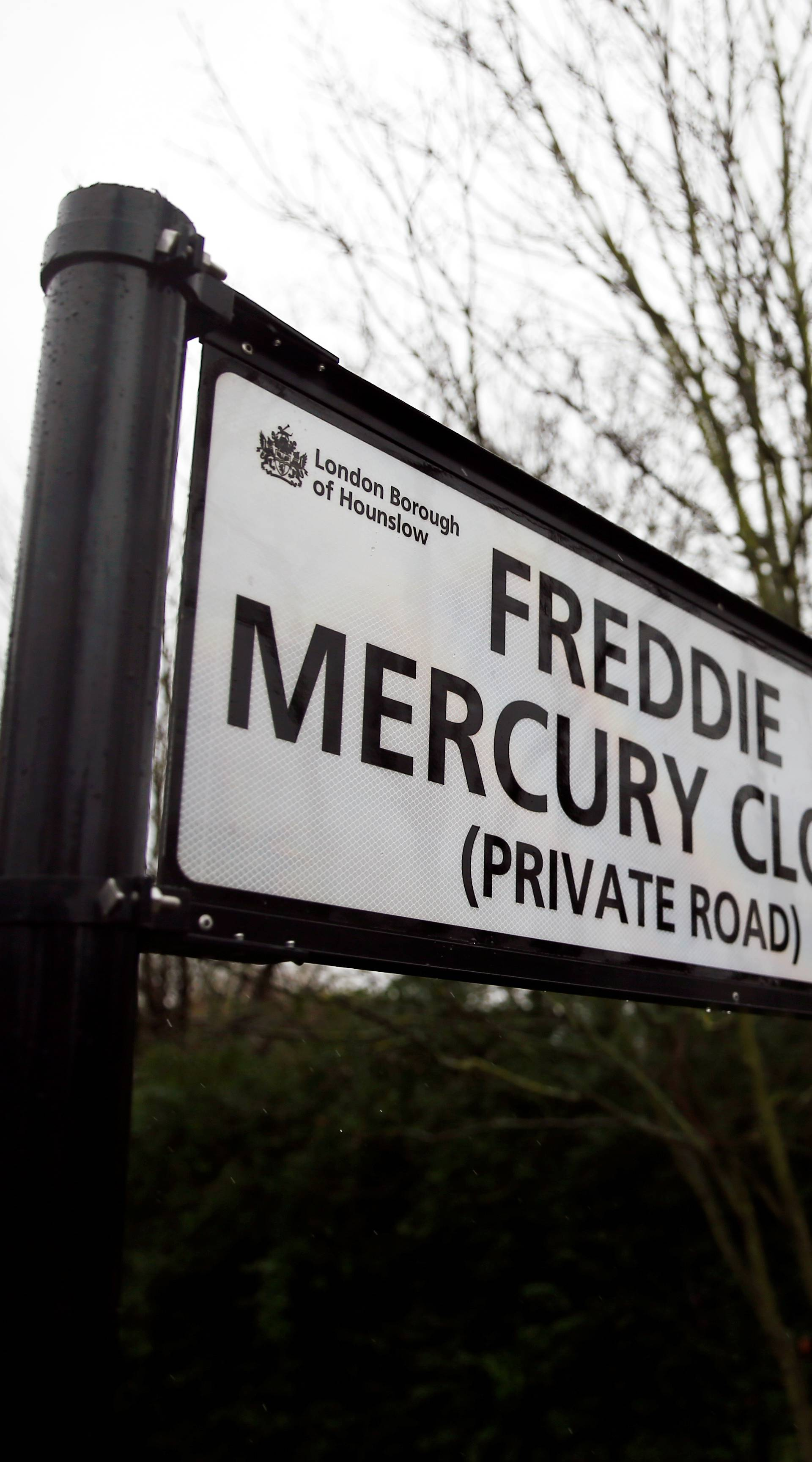 "Ceremony to rename street in Feltham ""Freddie Mercury Close"", in Feltham, Greater London"