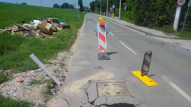 Ceste na Trnju propadaju nakon poplave: 'Netko će nastradati!'