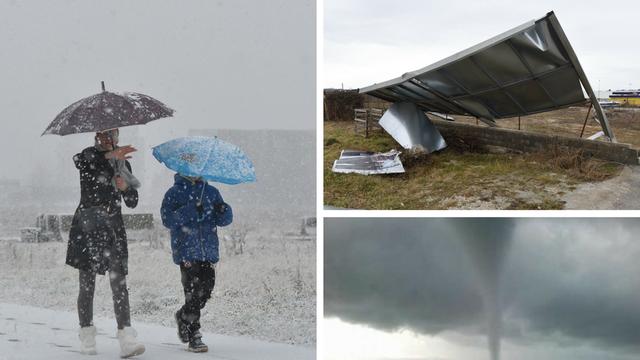 Ludo vrijeme: Pijavica uplašila Zadrane, a od sutra novi snijeg