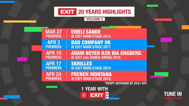 U susret proslavi 20 godina Exita – premijere nastupa Emeli Sande, Skrillexa i Montane!