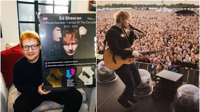 Sheeran proglašen izvođačem desetljeća: Ovo je nevjerojatno