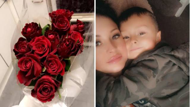 Dječak (4) štedio novac i onda  mami kupio veliki buket ruža