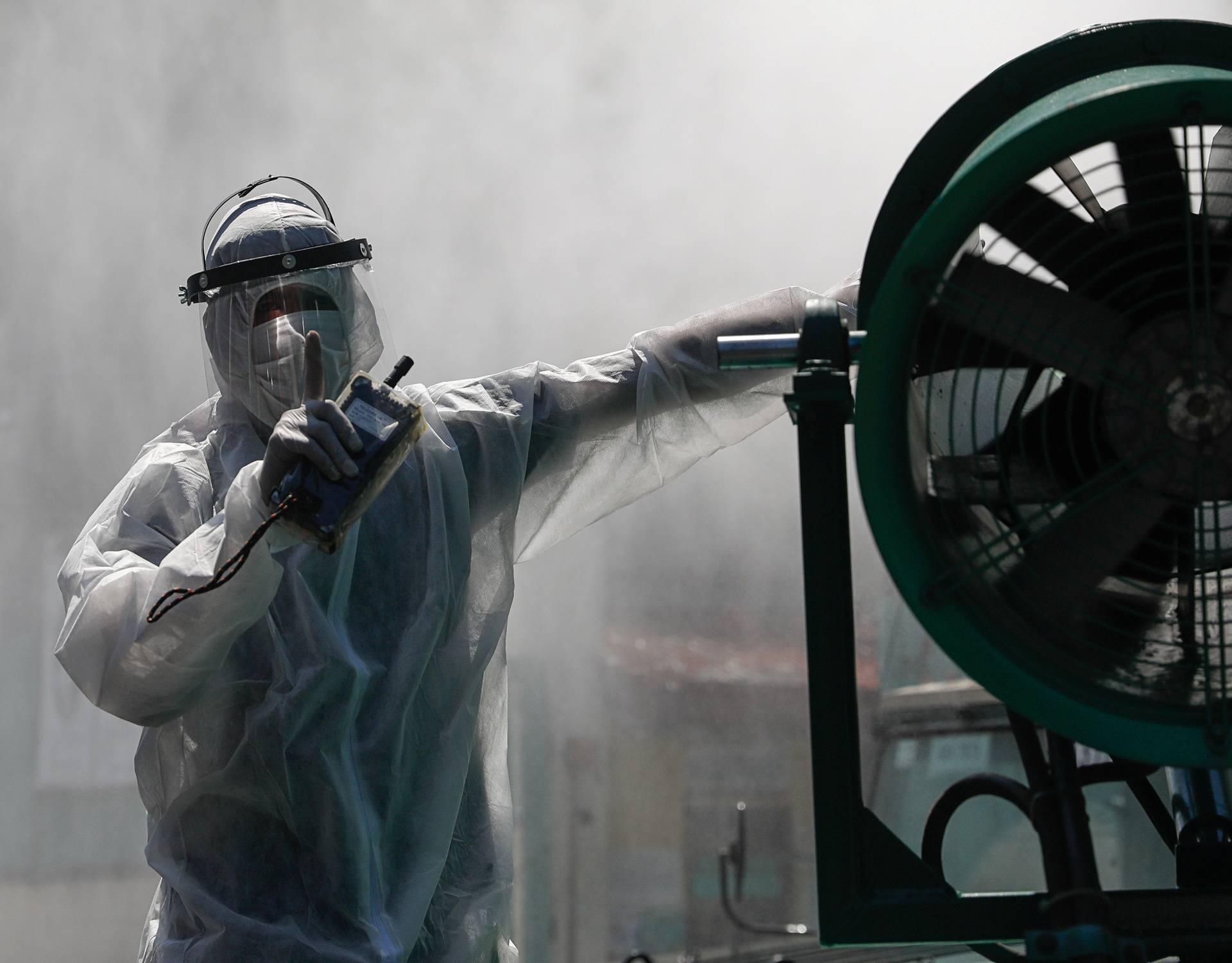 School disinfection amid new cases of coronavirus in Metro Manila