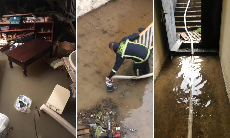 Poplavljena Makarska: 'Plivale' ulice, kafići, podrumi, garaže...
