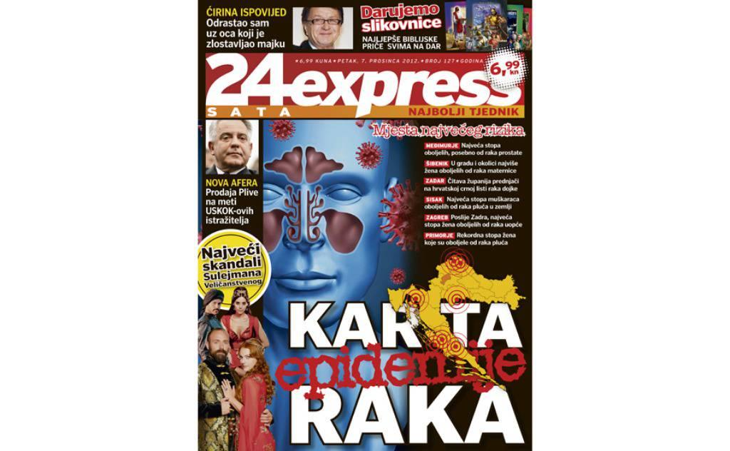 24sataExpress: Velika karta epidemije raka u Hrvatskoj!