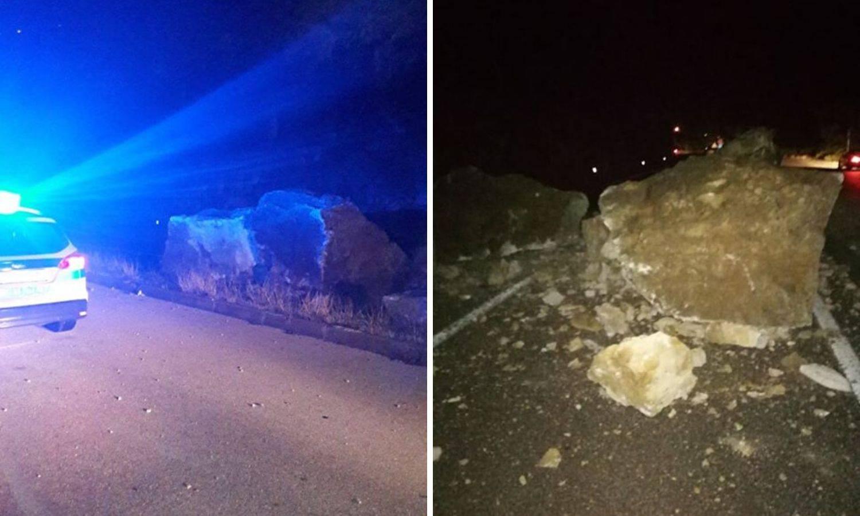 Odron kod Rogoznice: 'Na cesti je kamenje veličine automobila'