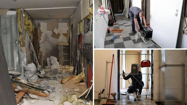 Sanacija nakon bombe: Majstori rade unatoč blagdanu kako bi stanari opet imali svoja - vrata