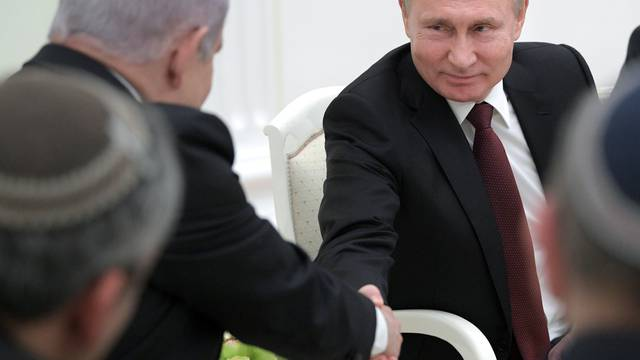 Russian President Putin meets Israeli Prime Minister Netanyahu in Moscow