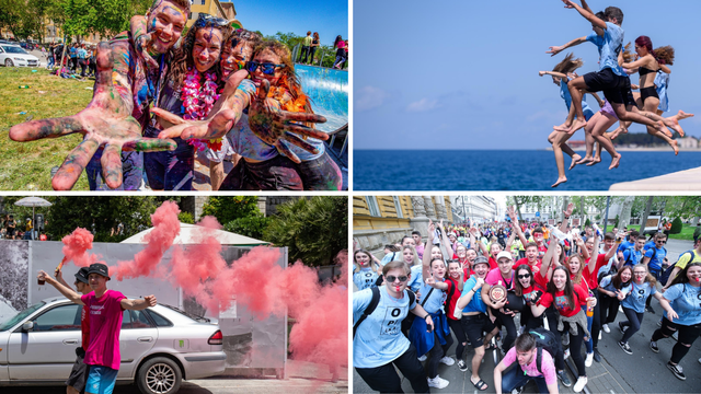 FOTO Boje, baklje, brašno i kupanje: Ovako su maturanti slavili 'norijadu' diljem zemlje