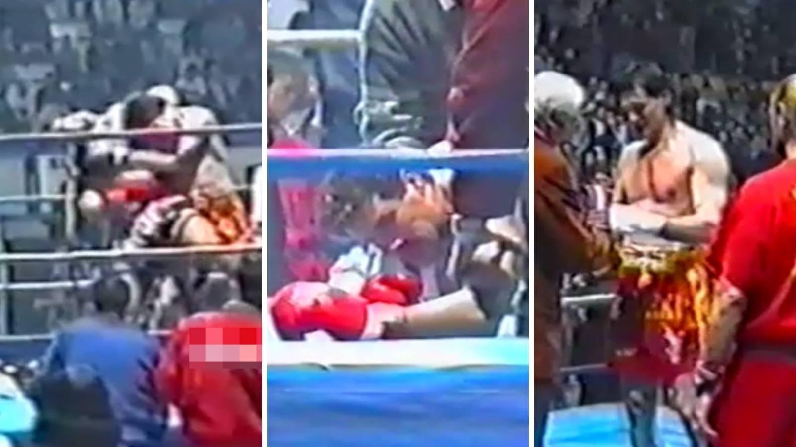 Marokanac nije mogao ustati! Pogledajte kako je Tigar Cikatić izvalio rame protivniku u Ciboni