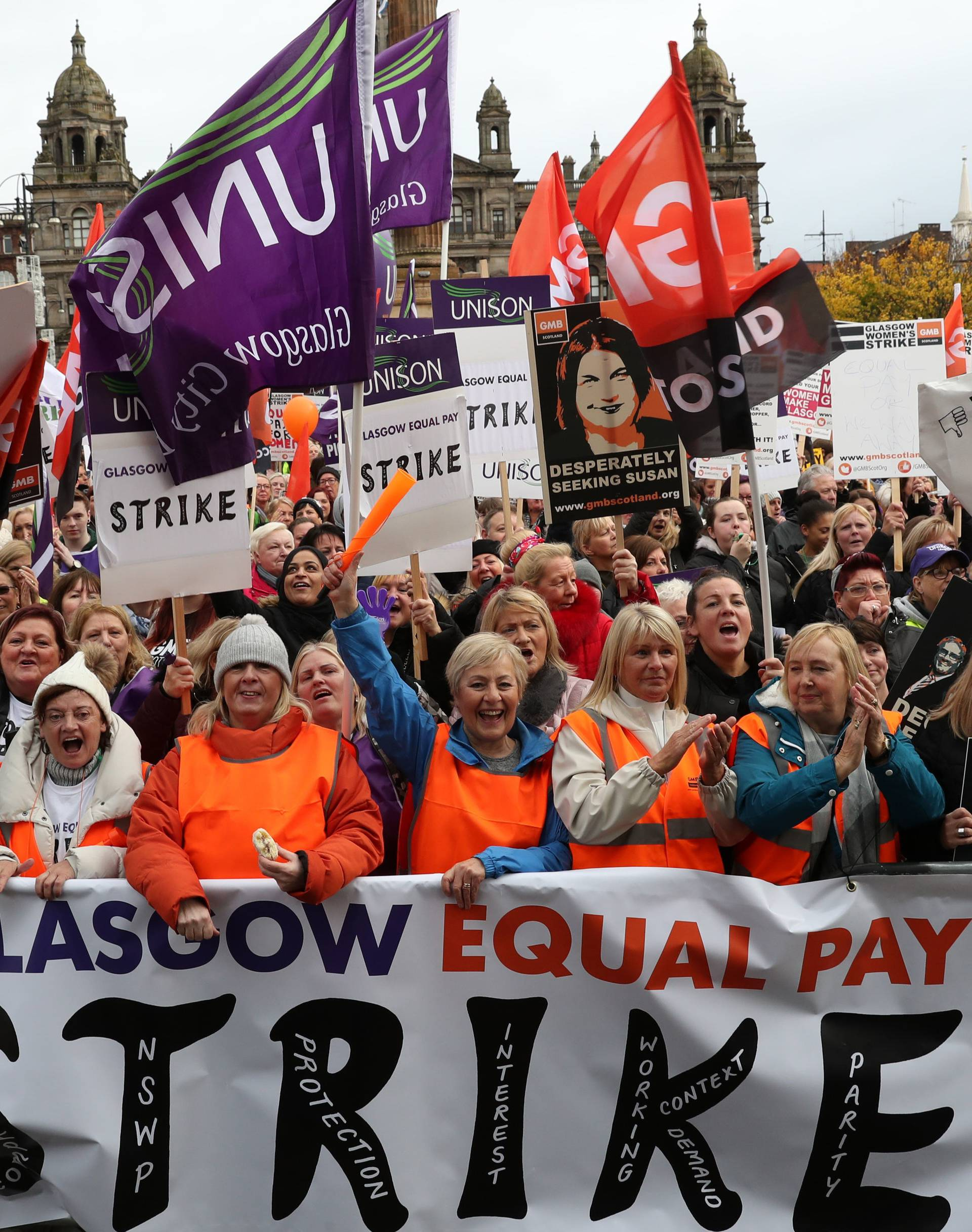 Strike over equal pay