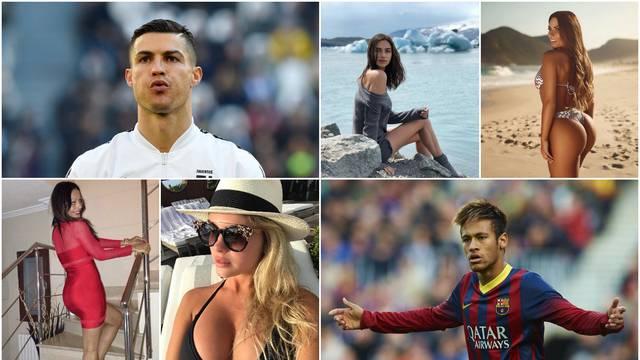 Ronalda su povezivali s Paris Hilton, a Neymar ljubio Soraju