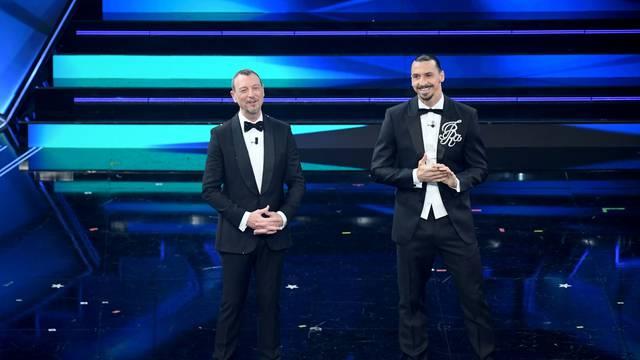 Sanremo, 71st Italian Song Festival, First Evening. Zlatan Ibrahimović
