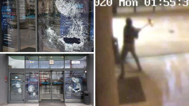 Video: S fantomkom na glavi je razbijao ulaz Gabrićeve klinike