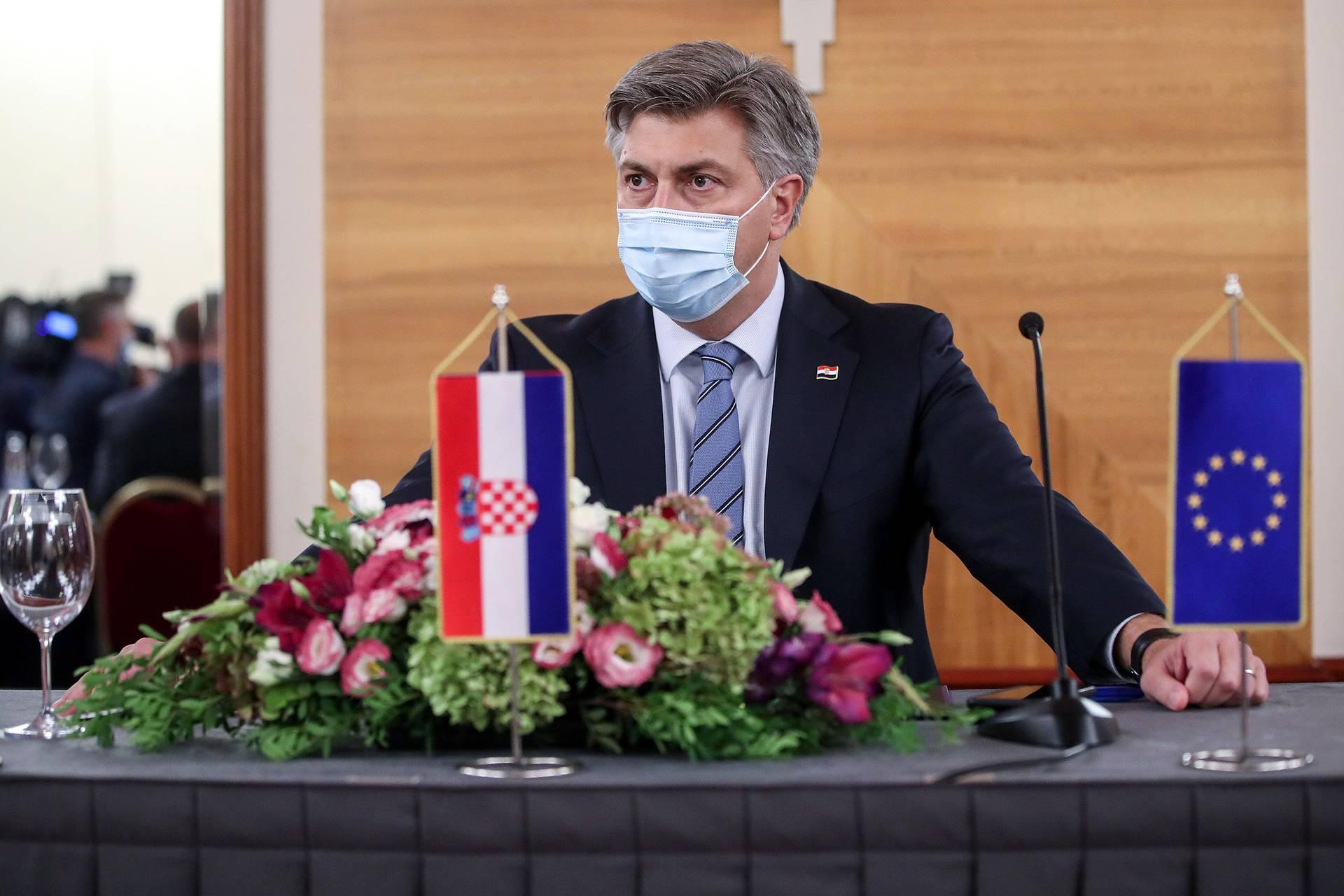 Zagreb: Zajednička sjednica Predsjedništva i Nacionalnog vijeća HDZ-a u hotelu Westin