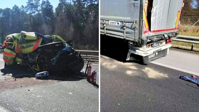 Sudar kamiona i hitne pomoći u Sloveniji, ozlijeđeno dvoje ljudi
