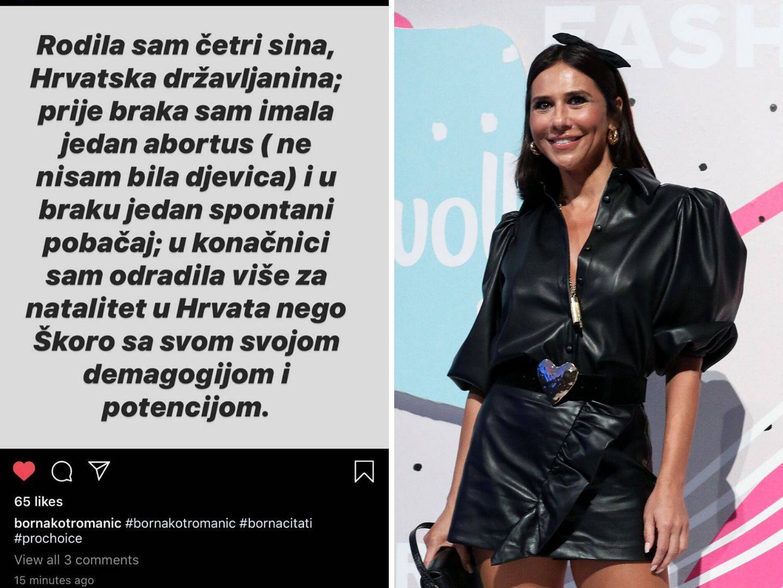 Borna Kotromanić poslala je poruku Škori oko pobačaja...