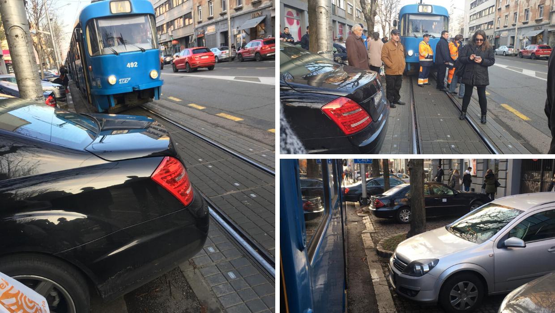 Mercedesom blokirao tramvaje, ljuti putnici čekali pola sata