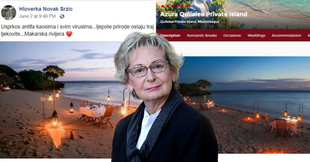 Hloverka Novak Srzić reklamira Makarsku rivijeru fotografijama iz Mozambika. Razotkrili su je