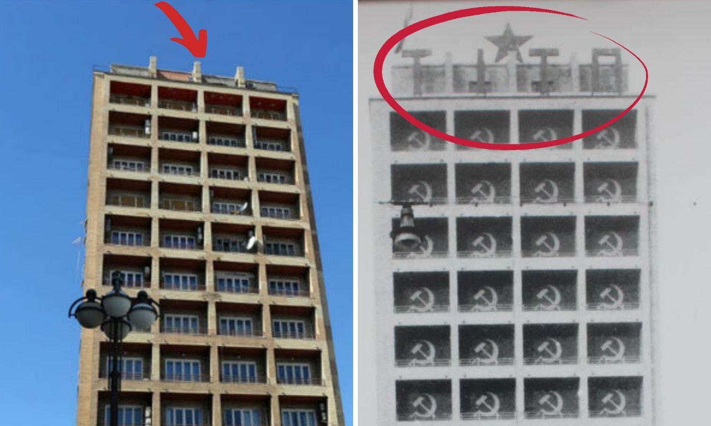 Zvijezda na Riječkom neboderu na istom mjestu gdje je bila '45