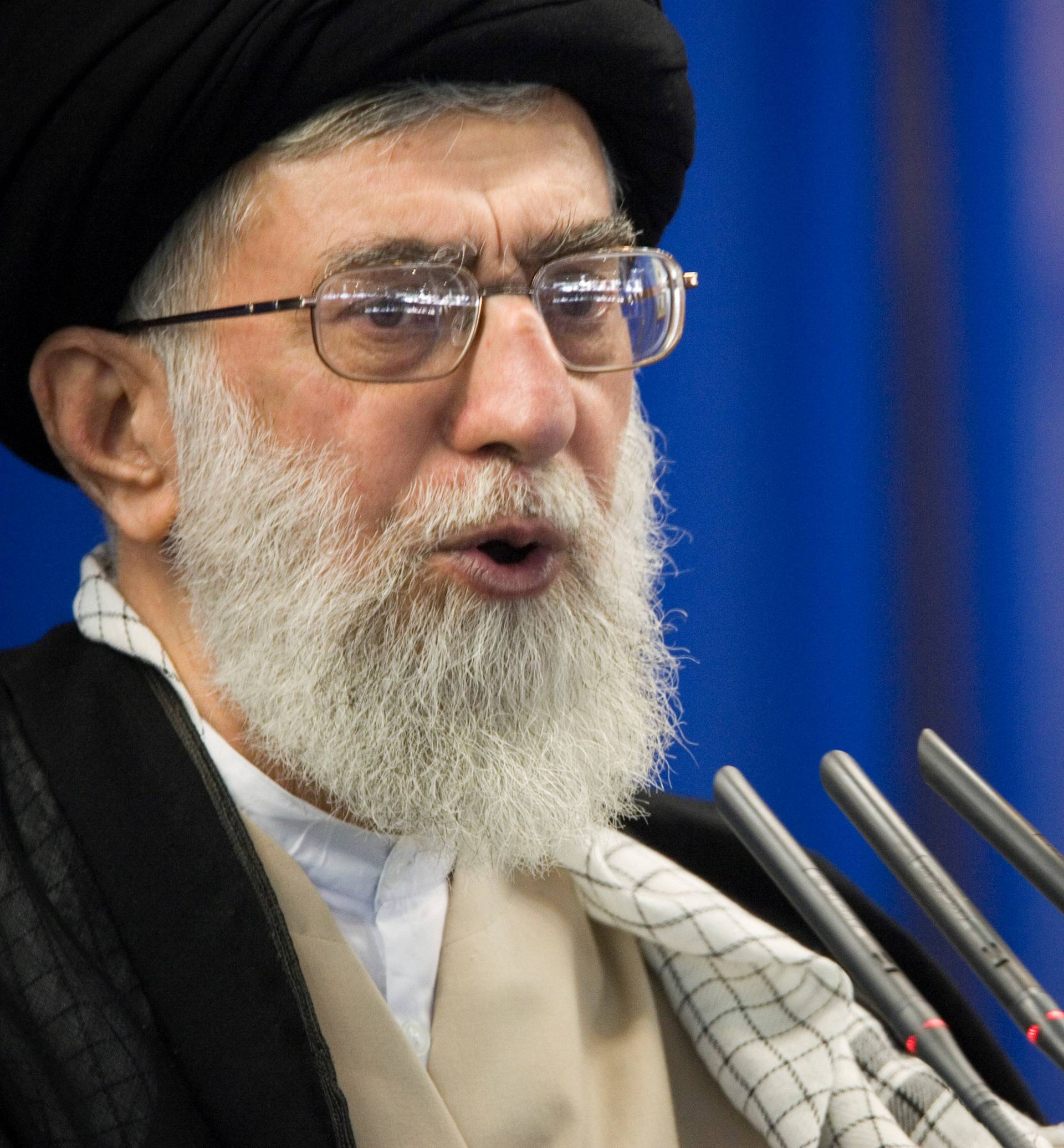 FILE PHOTO: FILE PHOTO: Iran's Supreme Leader Ayatollah Ali Khamenei speaks during Friday prayers in Tehran