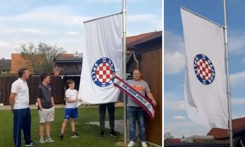 Hajdukova zastava zavijorila se na vrhu jarbola u Njemačkoj...