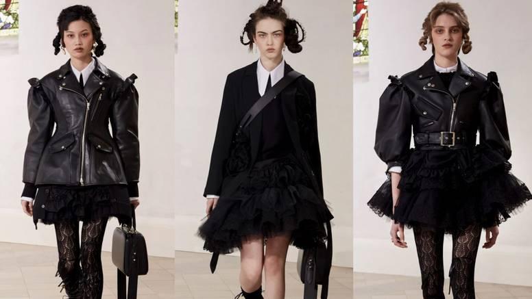 Simone Rocha osmislila je punk princeze u koži i crnom cvijeću
