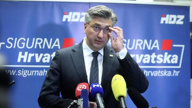 Zagreb: Izjava za medije nakon sjednice Predsjedništva i nacionalnog vijeća HDZ-a