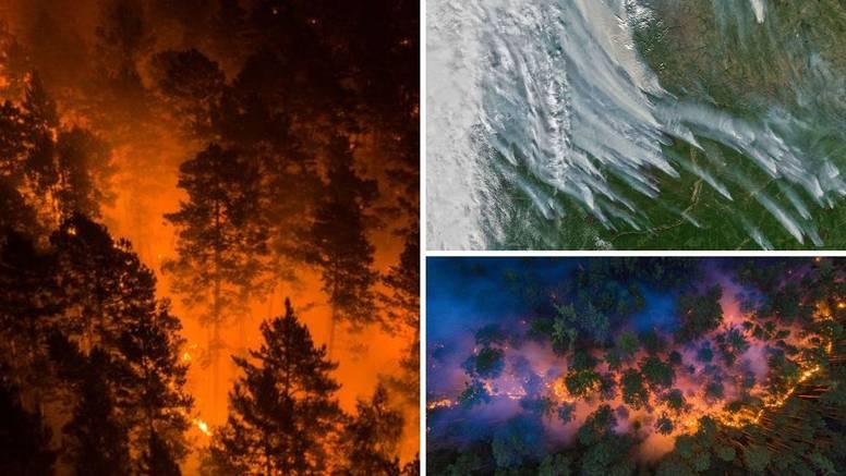 Snimka NASA-e: Dim požara u Sibiru prvi put u povijesti je došao sve do Sjevernog pola