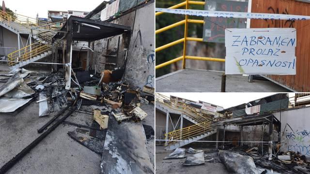 Izgorio kiosk usred Šibenika: Pojavio se dim i onda je planulo