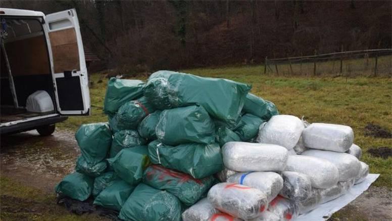 Krijumčarili 481 kg marihuane u vrijednosti oko 7 milijuna kn