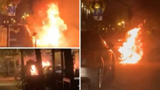 VIDEO U Tkalčićevoj gorio BMW, na Perjavici požar krovišta kuće