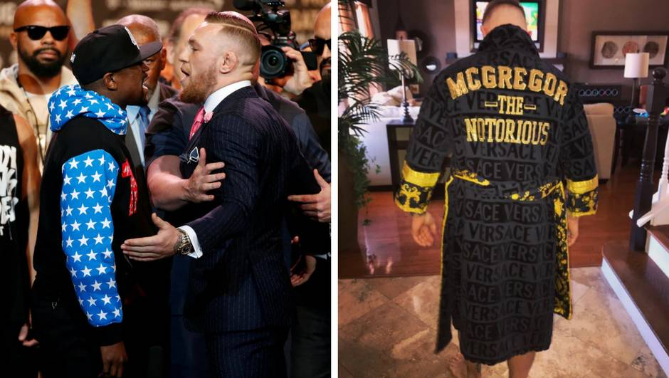 Prema ringu sa stilom: Conor će nositi Versaceov ogrtač
