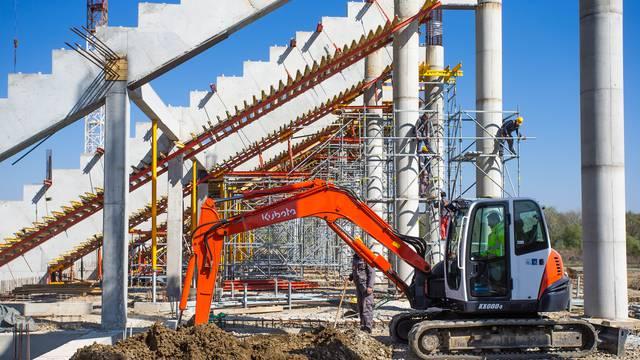 Gradi li se gradi: Osijekov novi stadion ne zaustavlja ni korona