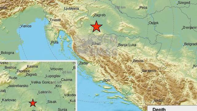 Potres jačine 3.2 zatresao Glinu, prije njega dva manja Sisak