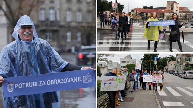 U nekoliko gradova potrubili su za obrazovanje: 'Podupiru nas!'