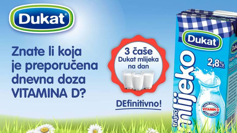 Tri čaše Dukat mlijeka – dovoljno vitamina D za cijeli dan