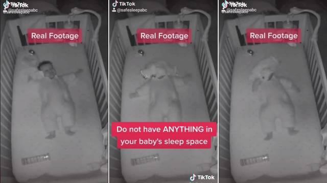 Zastrašujući video: Upozorili roditelje da ne ostavljaju ništa uz bebu u njenom krevetiću