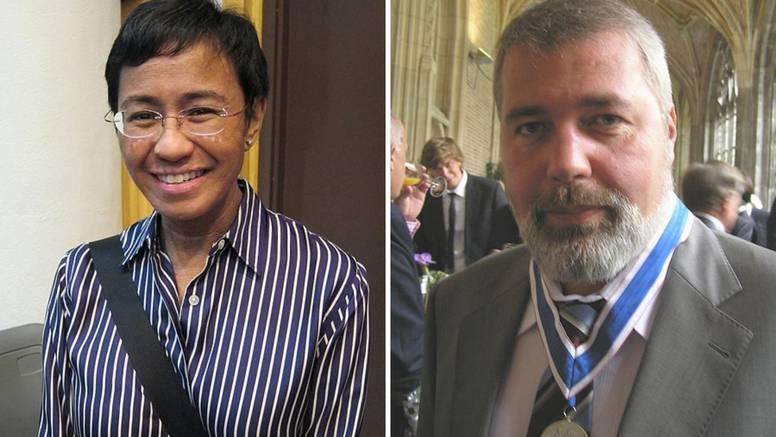 Dobitnici Nobelove nagrade za mir su novinari Ressa i Muratov