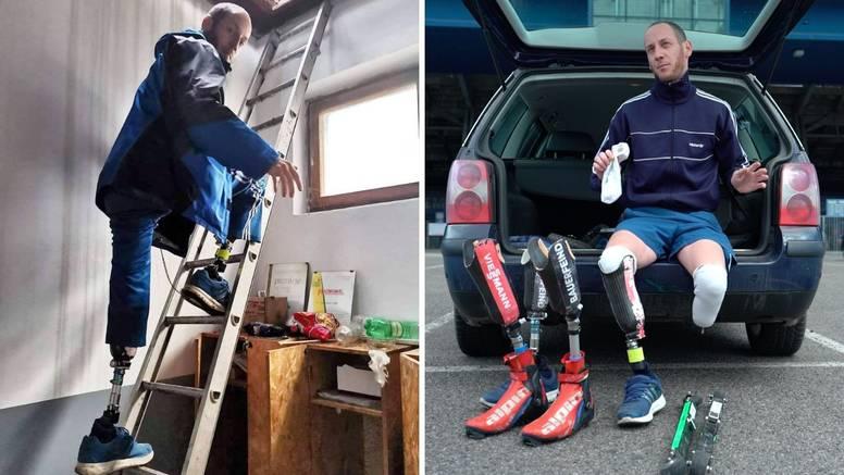 Ponos Hrvatske: Bez obje noge pomaže nastradalima u potresu