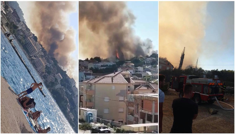 Gori na Čiovu: Kuće su spasili, stotinjak vatrogasaca na terenu