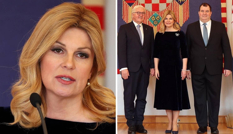 Decentna Kolinda: Baršunasta haljina za gosta iz Njemačke...