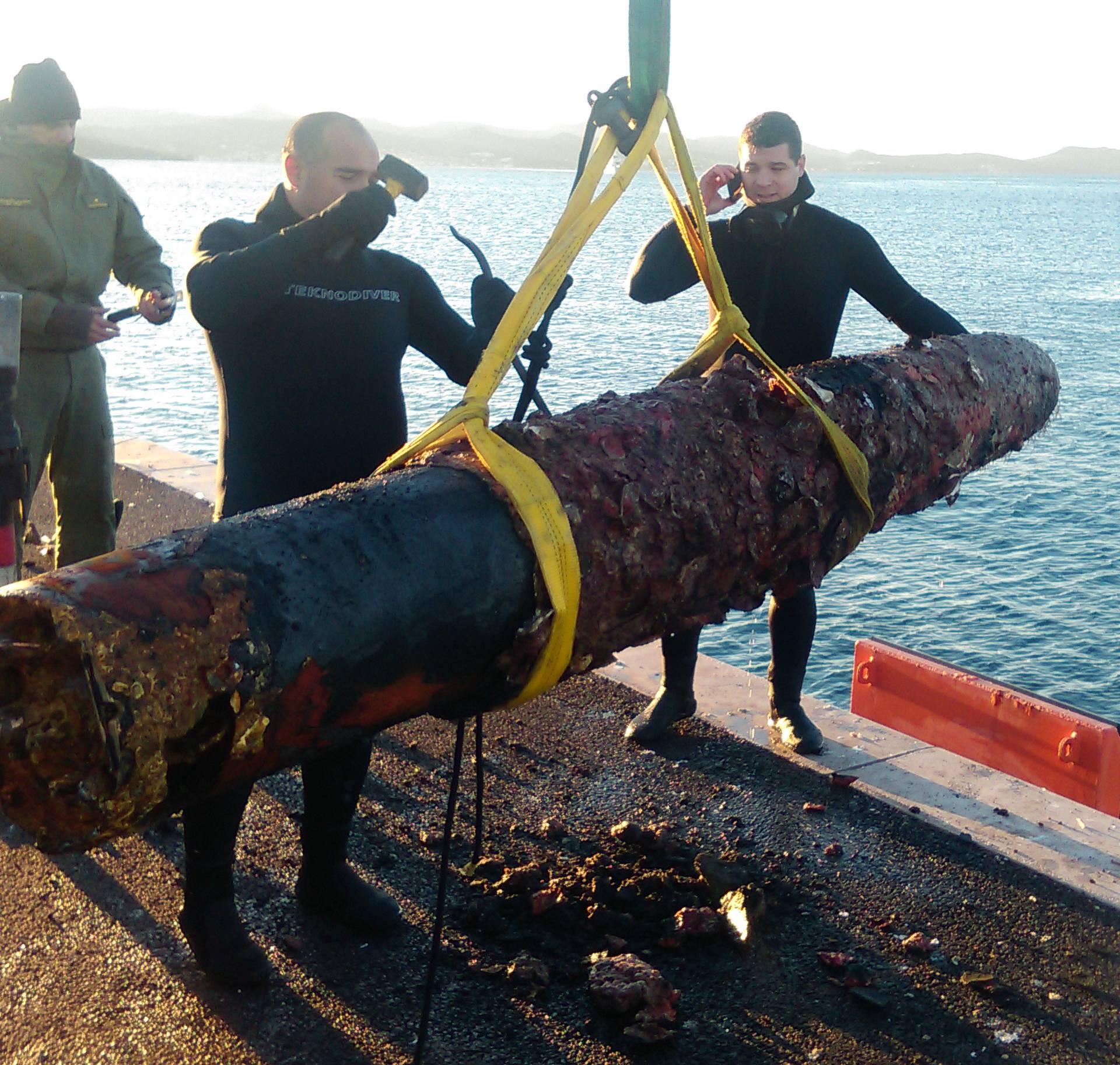 Kod Ugljana izvukli torpedo iz vremena Prvog svjetskog rata