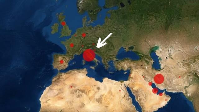 I Hrvatska je na 'korona karti': Virus se nezaustavljivo širi...