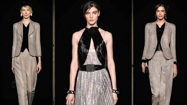 Armani predlaže haljine i sjajna odijela pastelnih i puder nijansi