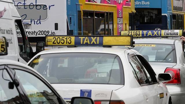 Irish taxi protest